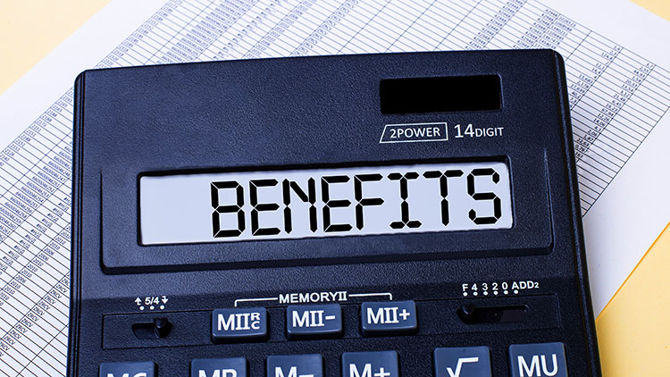 benefits on a calculator