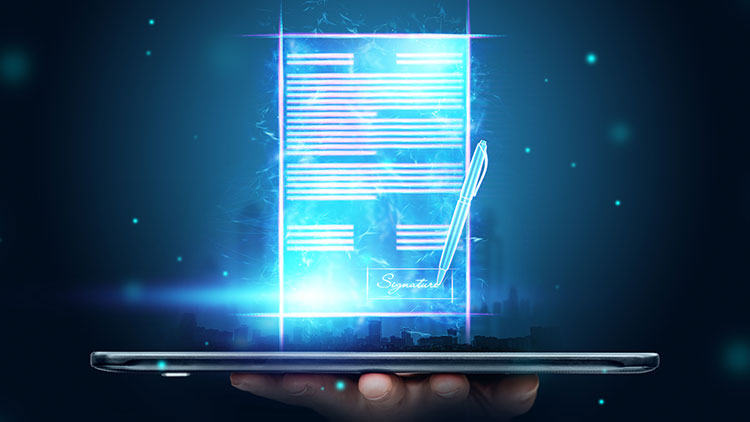 agreement with electronic signature