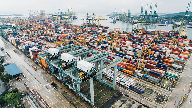 ships and containers